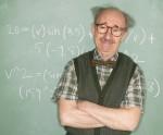 Confident Professor at Blackboard