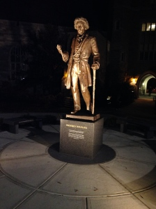 Frederick Douglass statue on West Chester campus, site of his last public lecture.