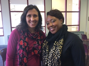 With Keesha Moore of the Career Development Center at Susquehanna University in Selinsgrove, PA.