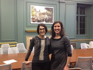 With my host at Brown, Siliva Sobral.