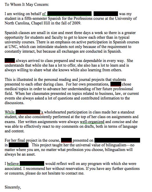 lukewarm letter of recommendation sample
