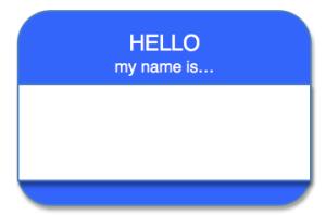 Hello...name tag