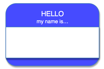 Hello...name tag
